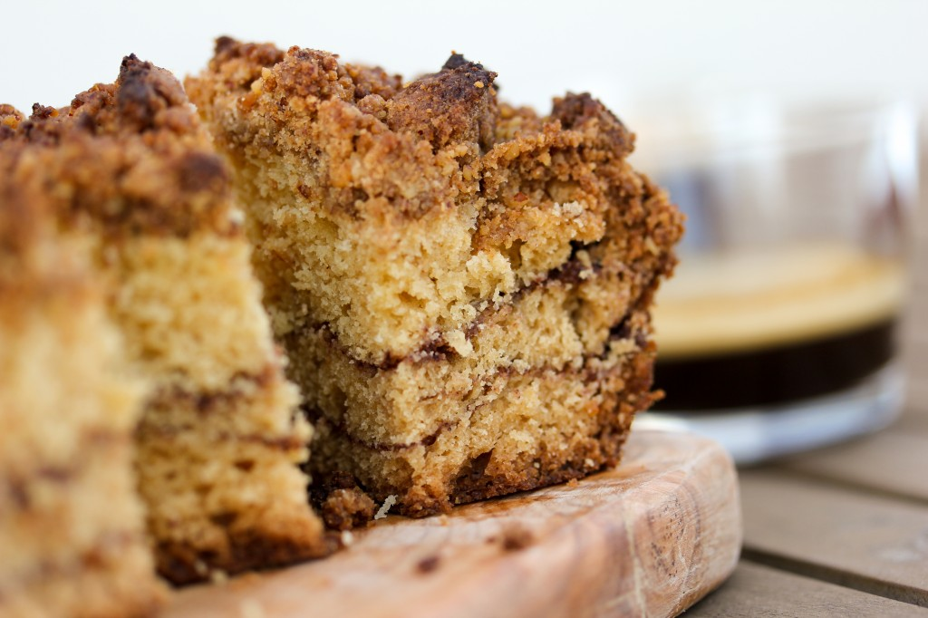 Sour Cream Cinnamon Swirl Coffee Cake