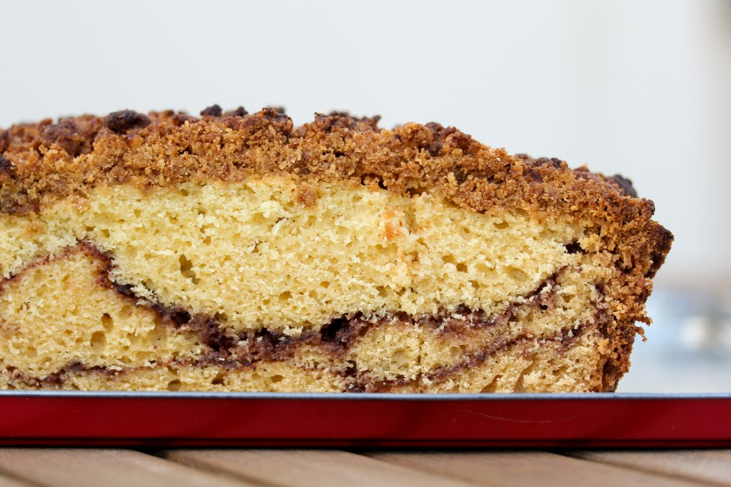 Little Wanderings - Sour Cream Coffee Cake with Chocolate Cinnamon Swirl 4