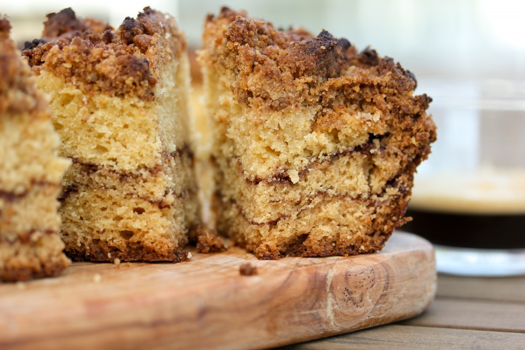 Little Wanderings - Sour Cream Coffee Cake with Chocolate Cinnamon Swirl 5
